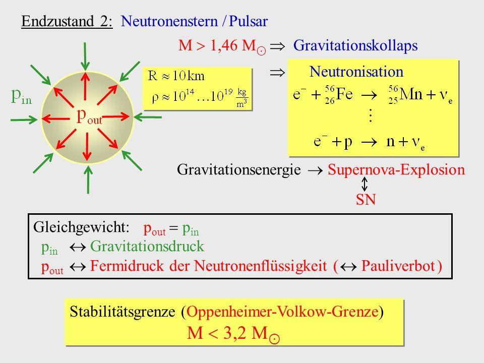 Gravitationsenergie  Supernova-Explosion