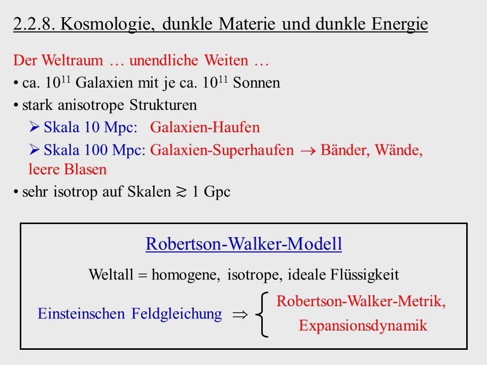 2.2.8. Kosmologie, dunkle Materie und dunkle Energie