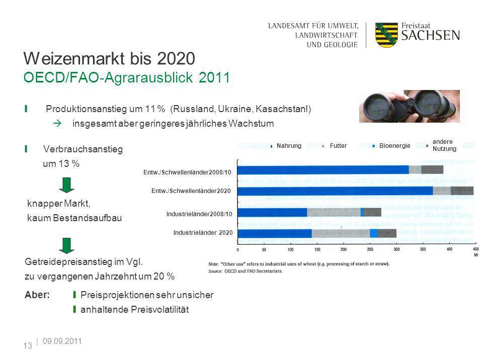 Weizenmarkt bis 2020 OECD/FAO-Agrarausblick 2011