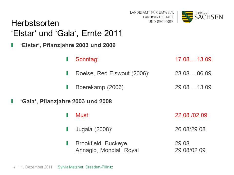 'Elstar' und 'Gala', Ernte 2011