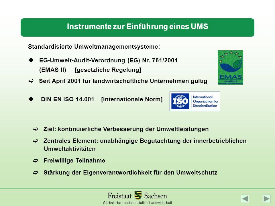 Instrumente zur Einführung eines UMS