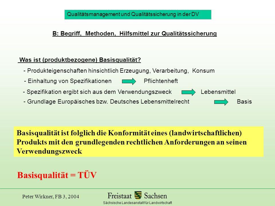 test Qualitätsmanagement und Qualitätssicherung in der DV. B: Begriff, Methoden, Hilfsmittel zur Qualitätssicherung.