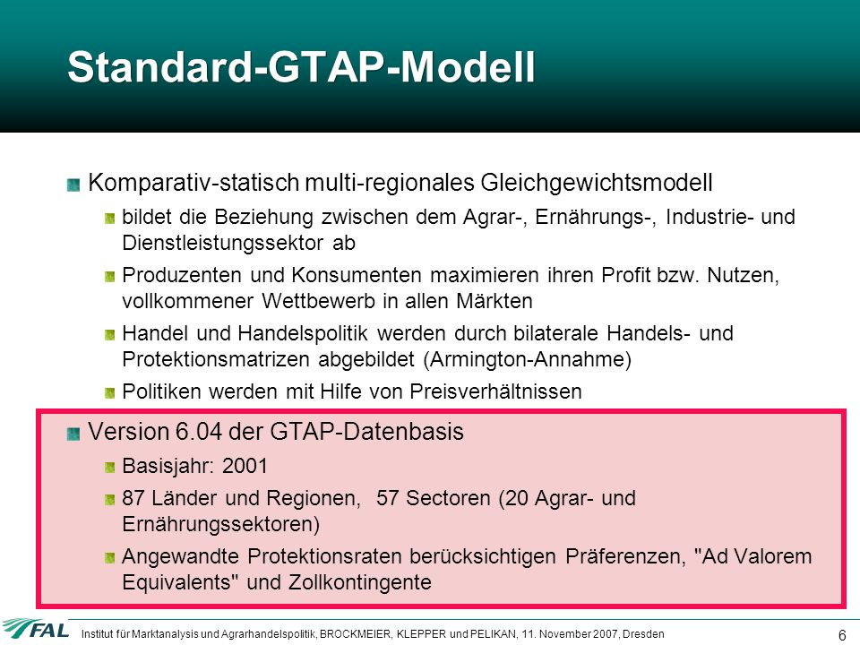 Standard-GTAP-Modell