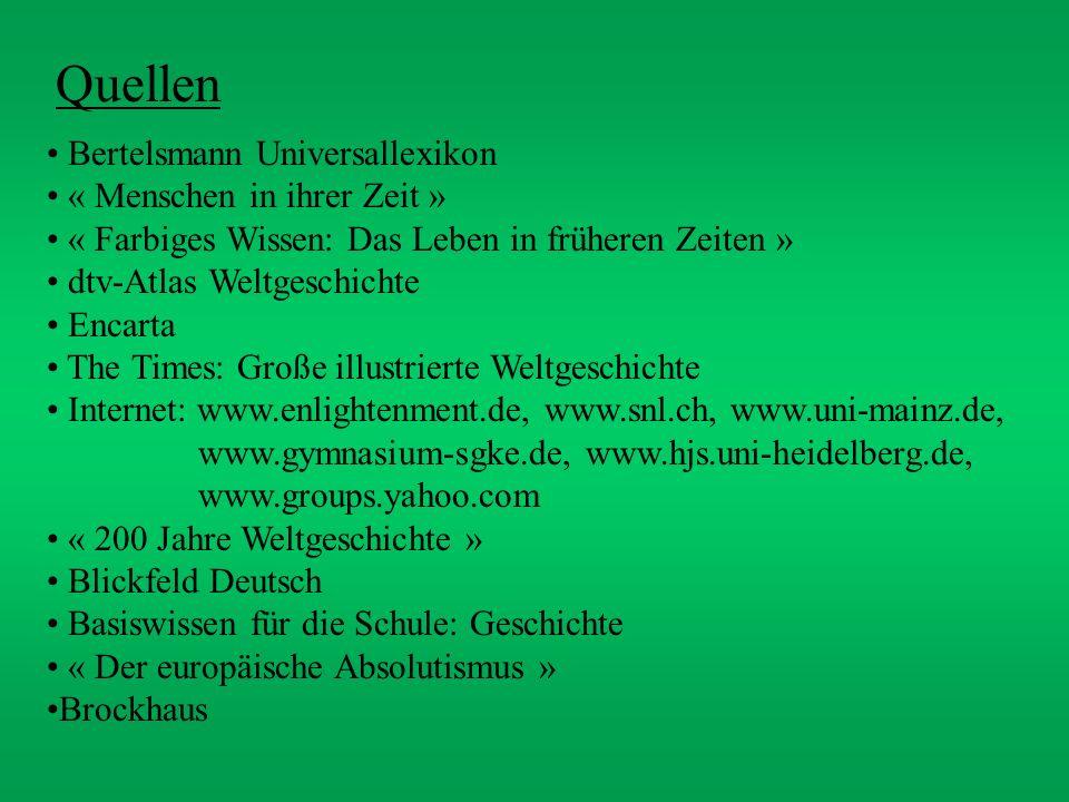 Quellen Bertelsmann Universallexikon « Menschen in ihrer Zeit »