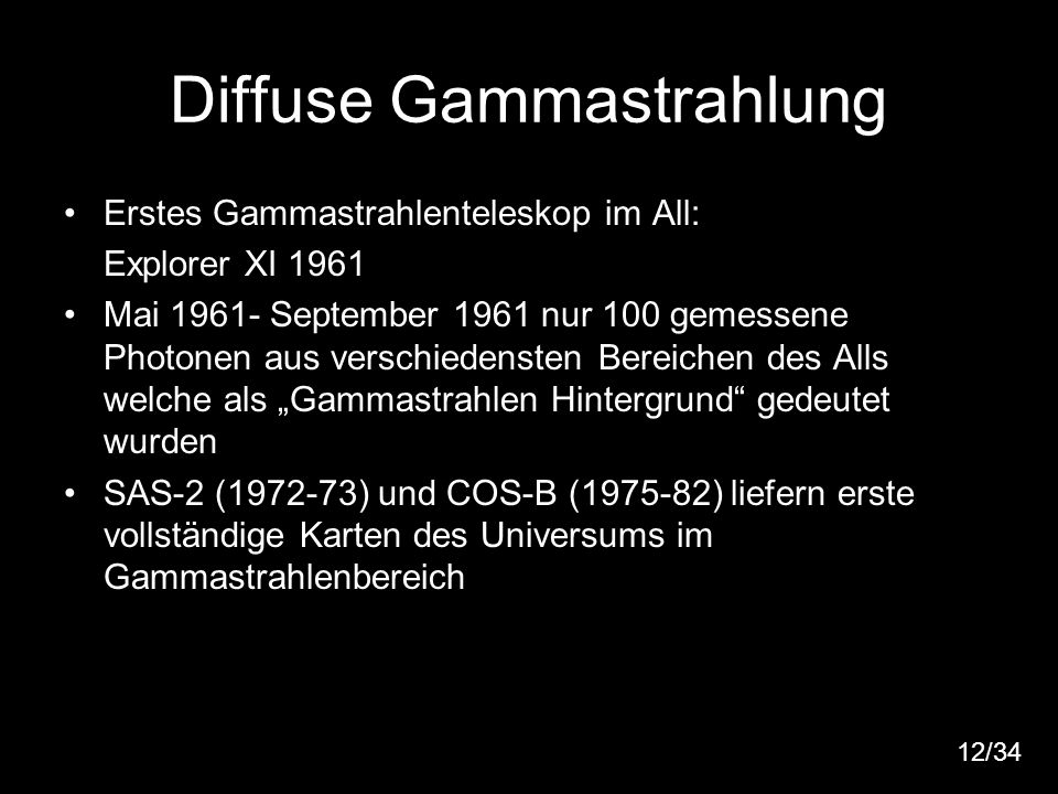 Diffuse Gammastrahlung