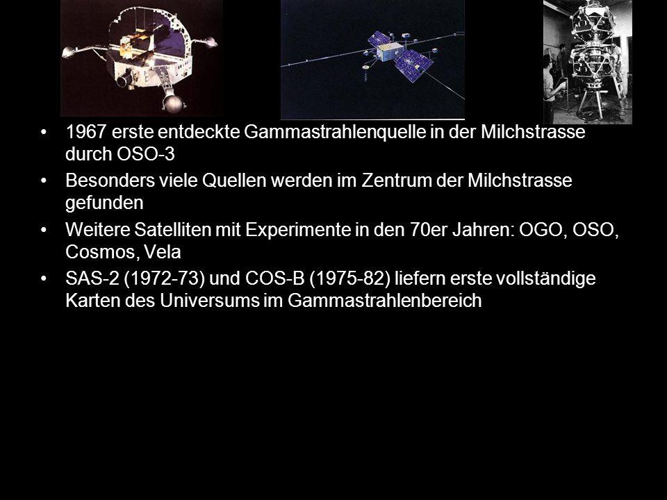 1967 erste entdeckte Gammastrahlenquelle in der Milchstrasse durch OSO-3