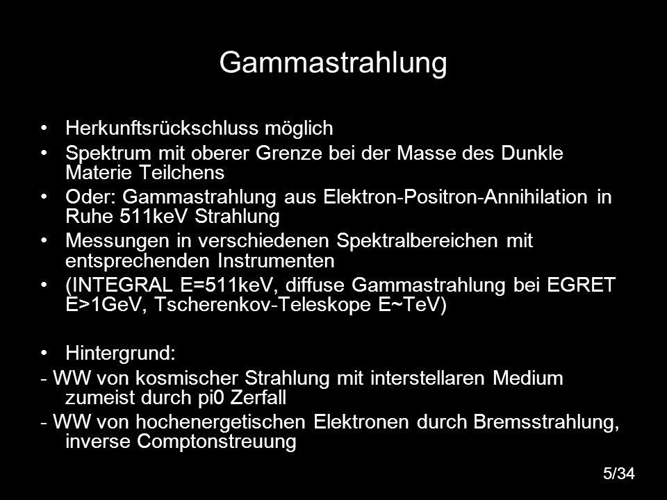 Gammastrahlung Herkunftsrückschluss möglich