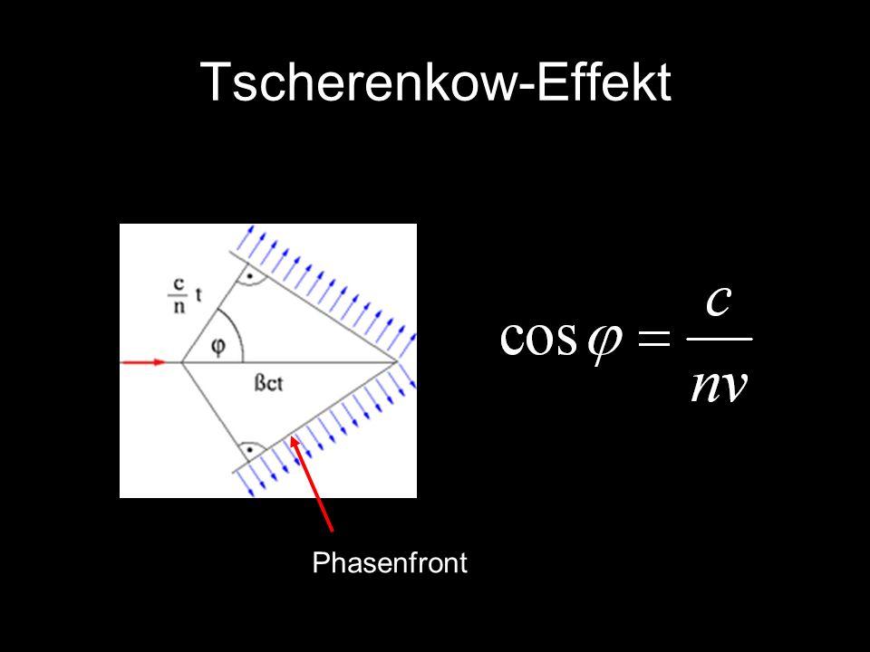 Tscherenkow-Effekt Phasenfront