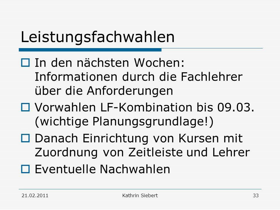 Leistungsfachwahlen In den nächsten Wochen: Informationen durch die Fachlehrer über die Anforderungen.