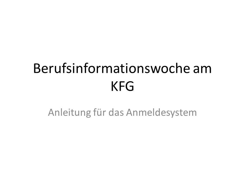 Berufsinformationswoche am KFG
