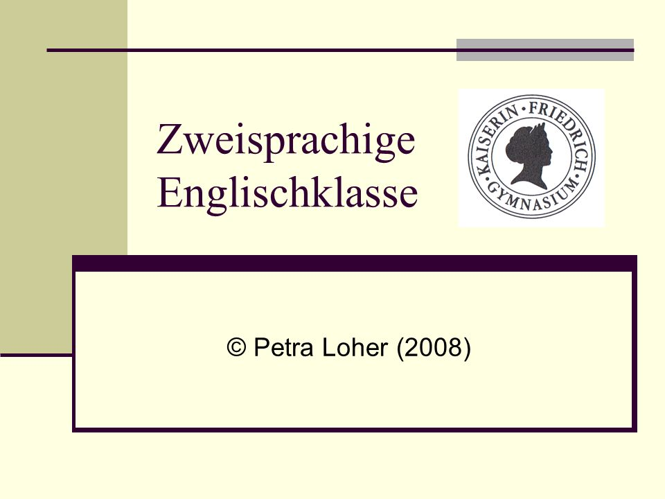 Zweisprachige Englischklasse