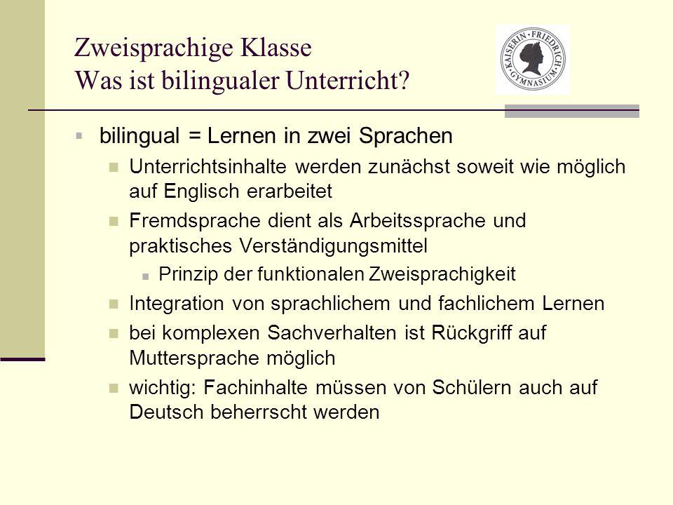 Zweisprachige Klasse Was ist bilingualer Unterricht