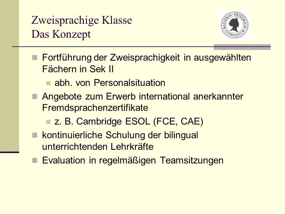 Zweisprachige Klasse Das Konzept