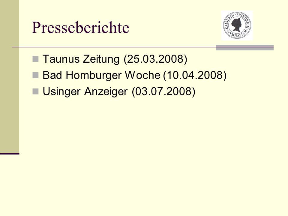 Presseberichte Taunus Zeitung (25.03.2008)