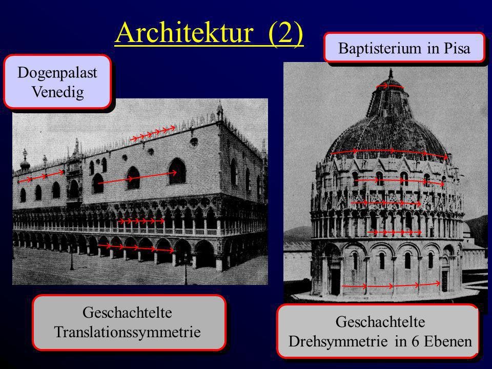 Architektur (2) Baptisterium in Pisa Dogenpalast Venedig