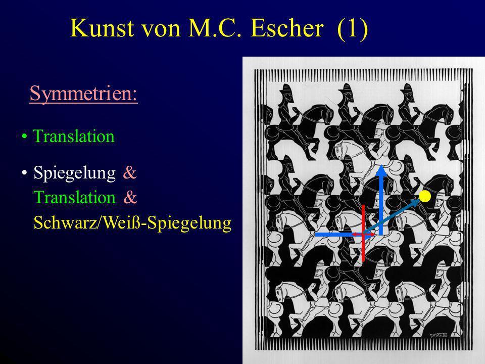 Kunst von M.C. Escher (1) Symmetrien: Translation Spiegelung &