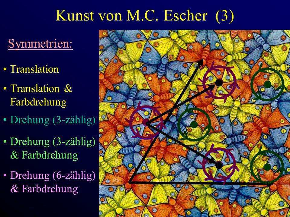 Kunst von M.C. Escher (3) Symmetrien: Translation