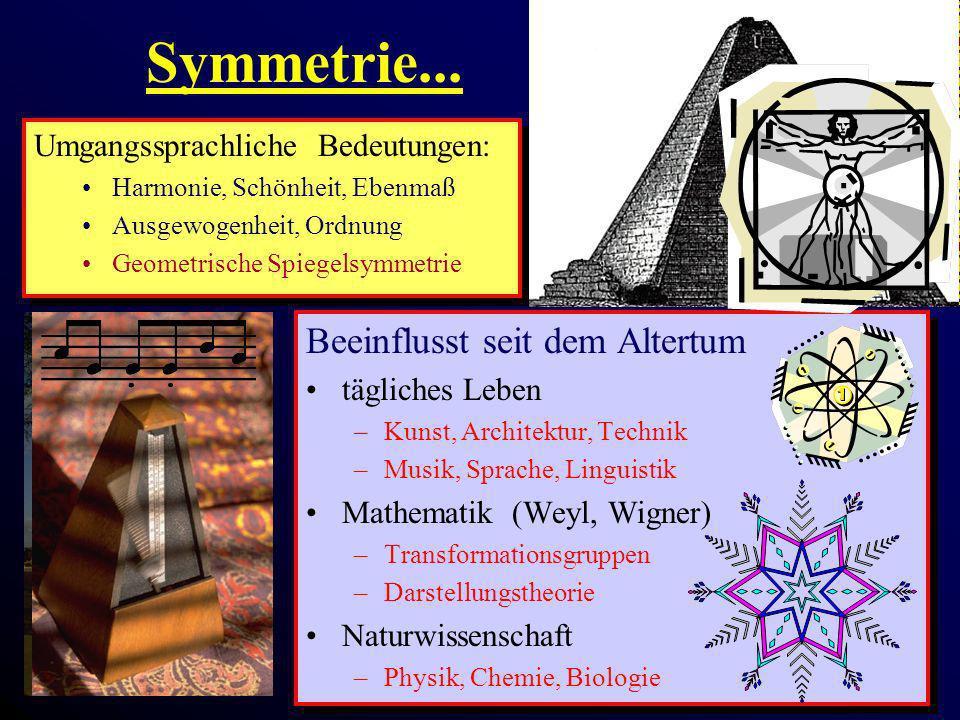 Symmetrie... Beeinflusst seit dem Altertum