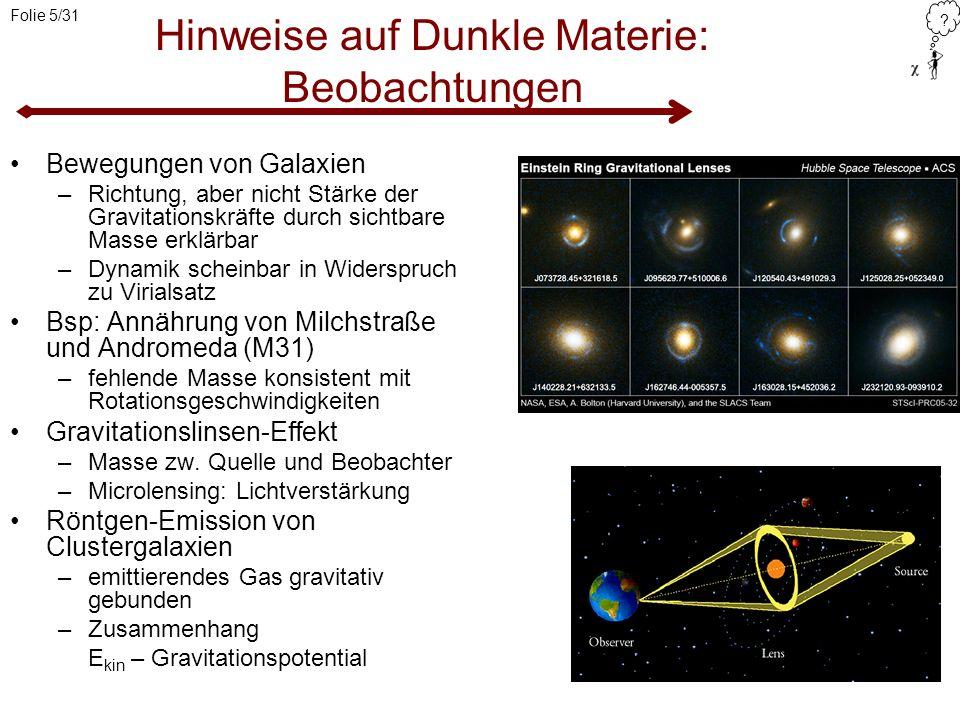 Hinweise auf Dunkle Materie: Beobachtungen
