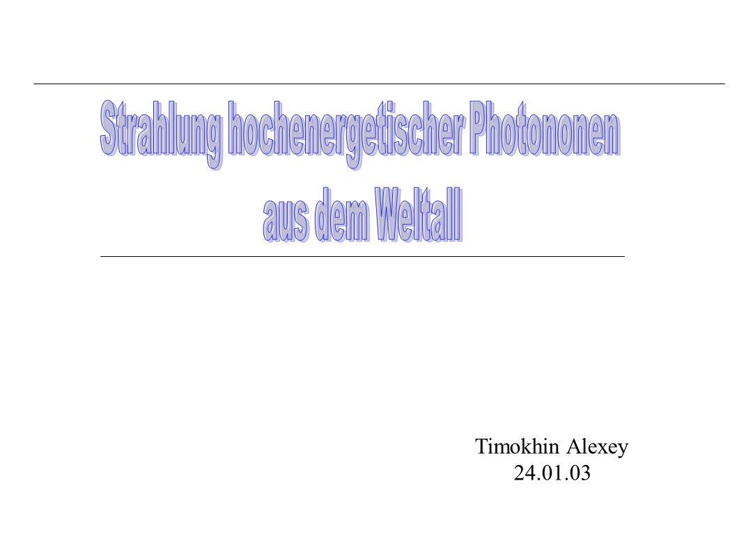 Strahlung hochenergetischer Photononen