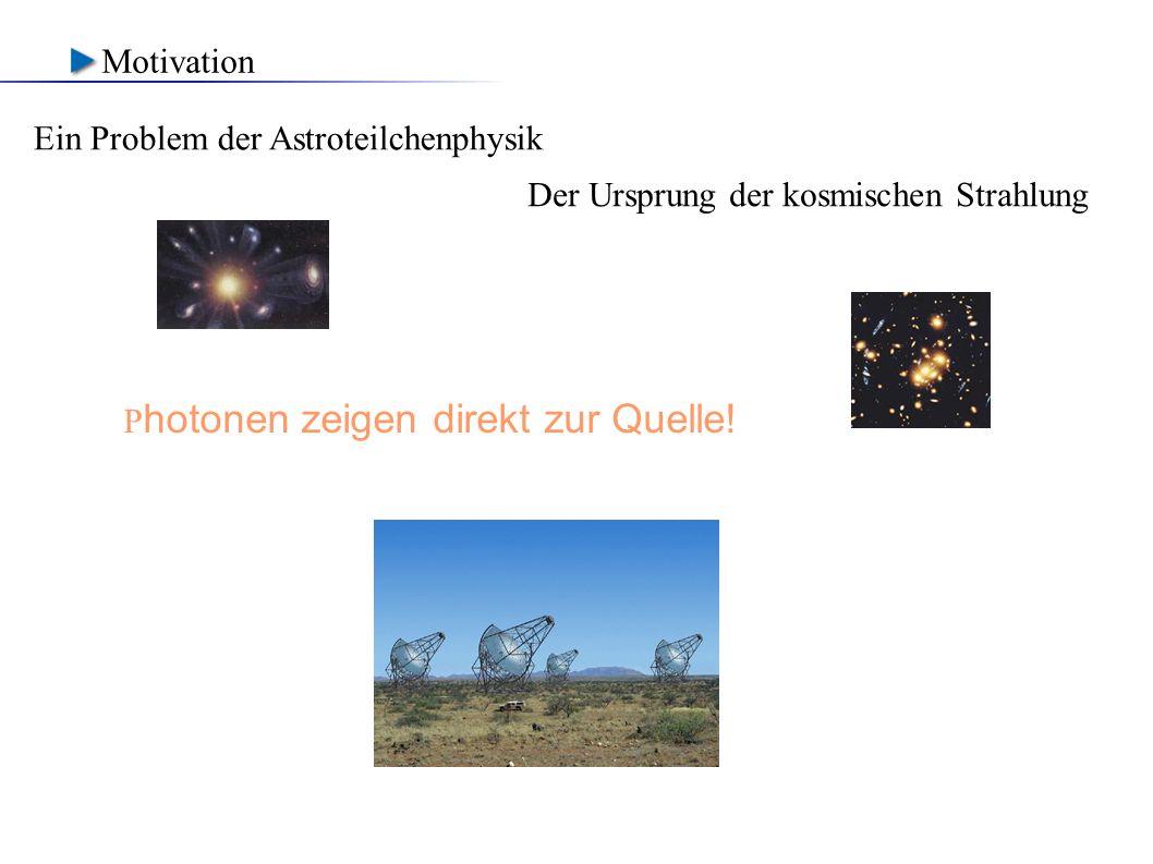 Motivation Ein Problem der Astroteilchenphysik - Der Ursprung der kosmischen Strahlung.