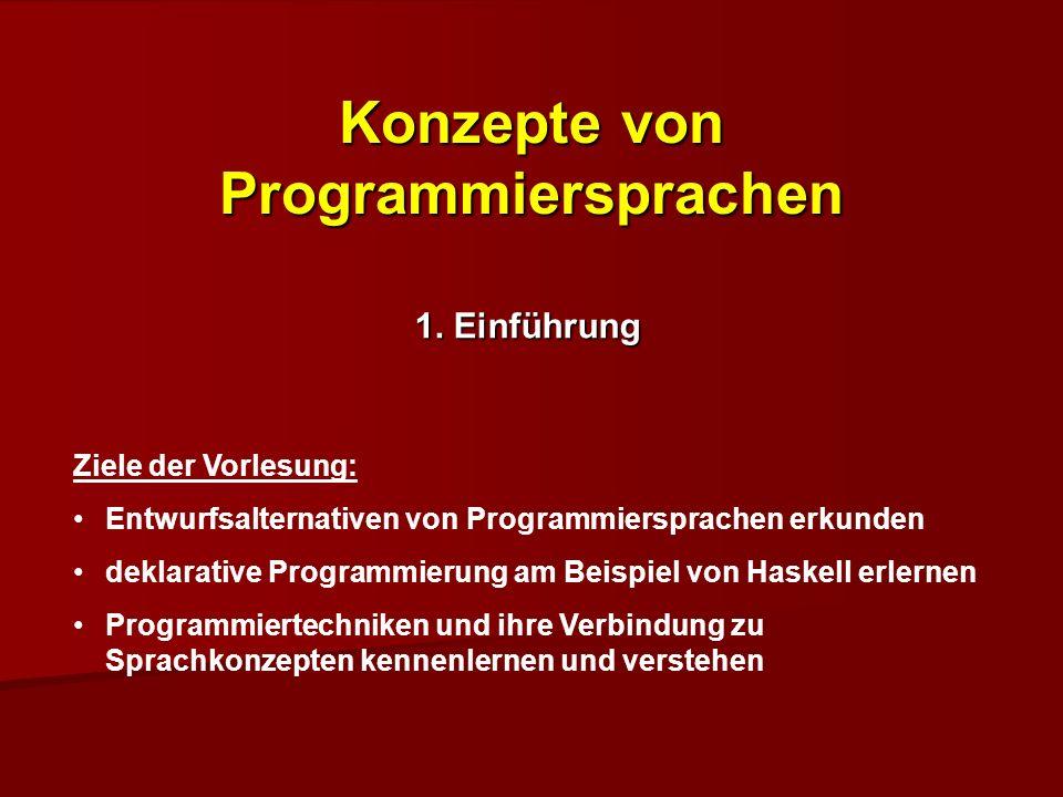 Konzepte von Programmiersprachen