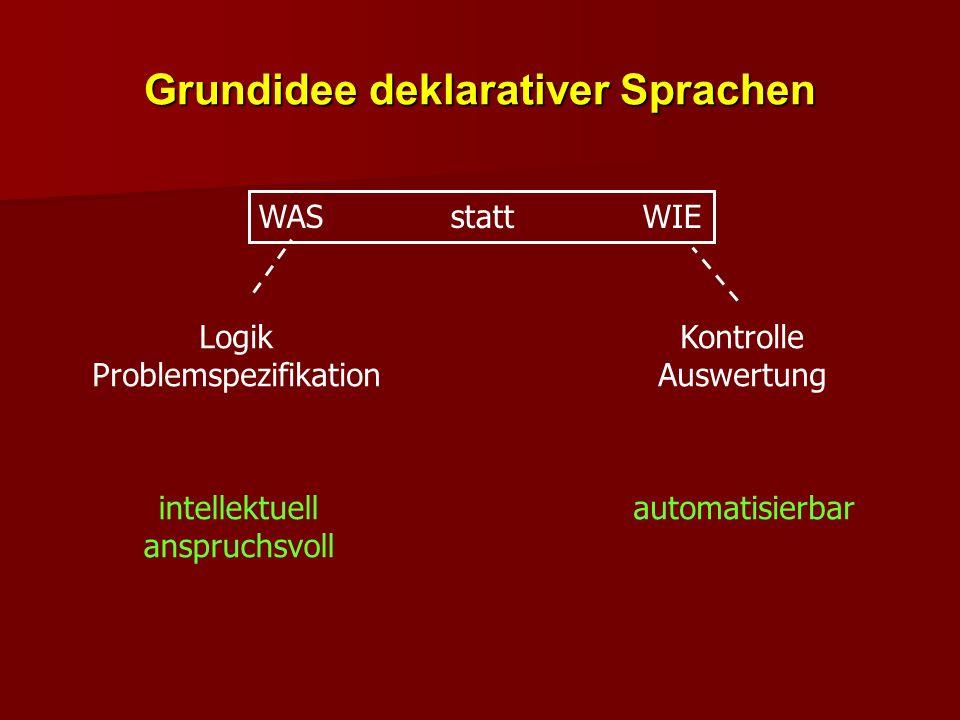 Grundidee deklarativer Sprachen