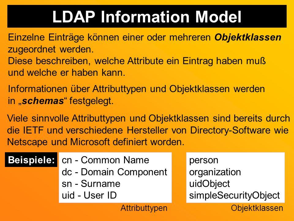 LDAP Information Model