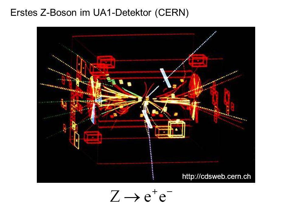 Erstes Z-Boson im UA1-Detektor (CERN)