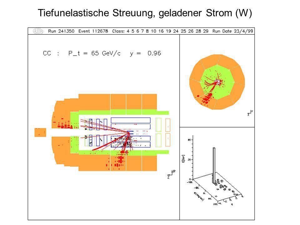 Tiefunelastische Streuung, geladener Strom (W)
