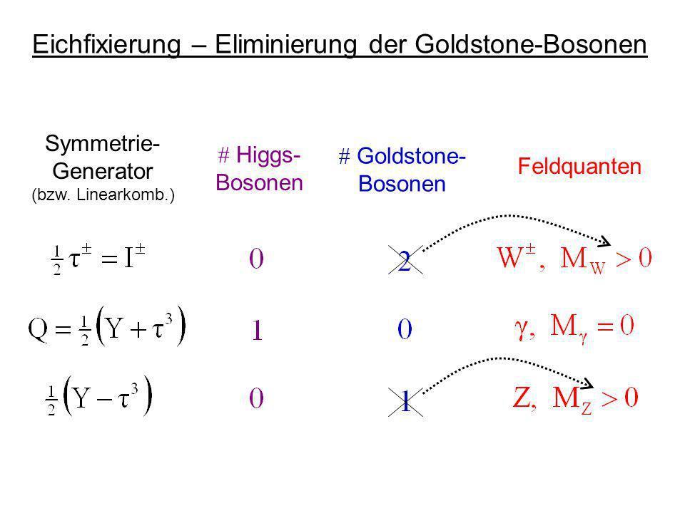 Eichfixierung – Eliminierung der Goldstone-Bosonen