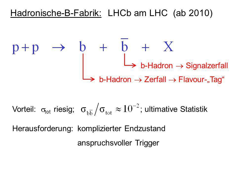 Hadronische-B-Fabrik: LHCb am LHC (ab 2010)