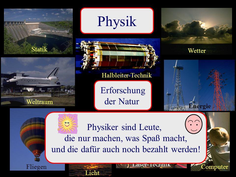 Physik Erforschung der Natur Physiker sind Leute,
