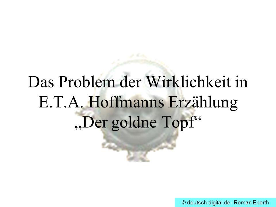 Das Problem der Wirklichkeit in E. T. A