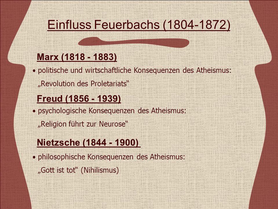 Einfluss Feuerbachs (1804-1872)