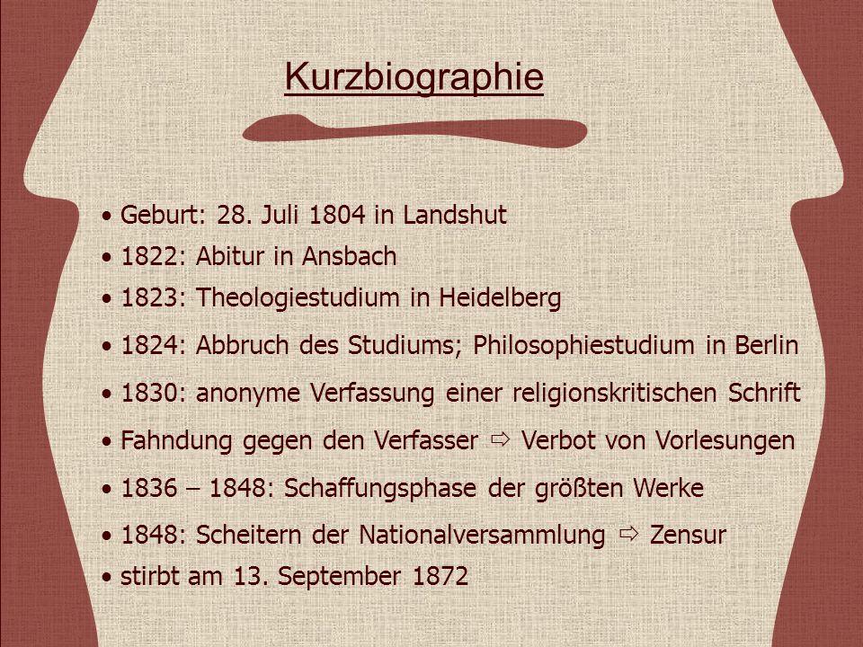 Kurzbiographie Geburt: 28. Juli 1804 in Landshut