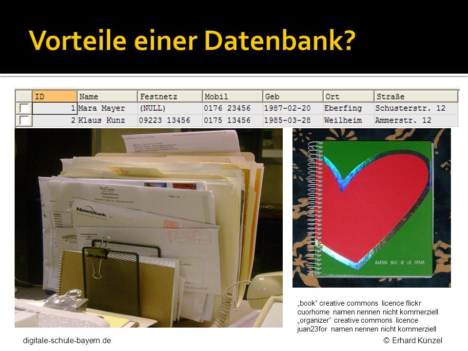 Vorteile einer Datenbank