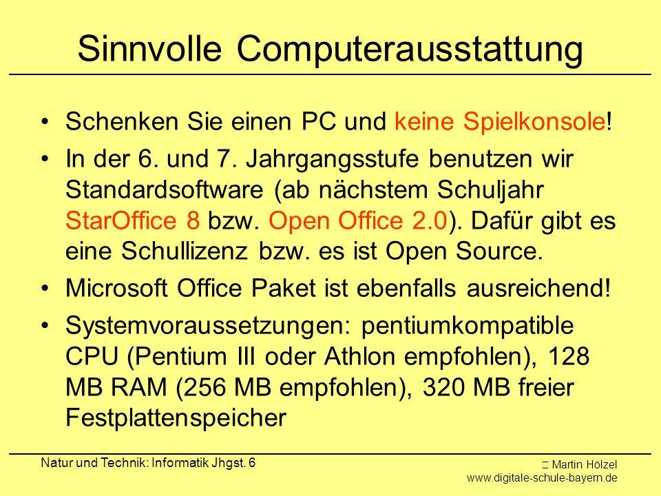 Sinnvolle Computerausstattung