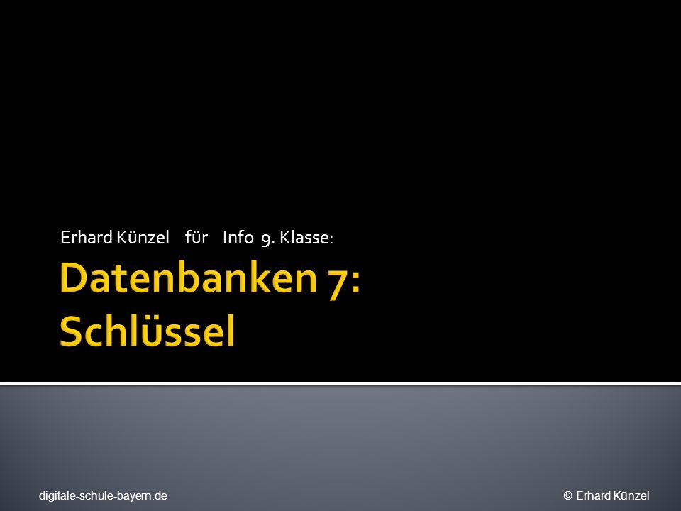 Datenbanken 7: Schlüssel