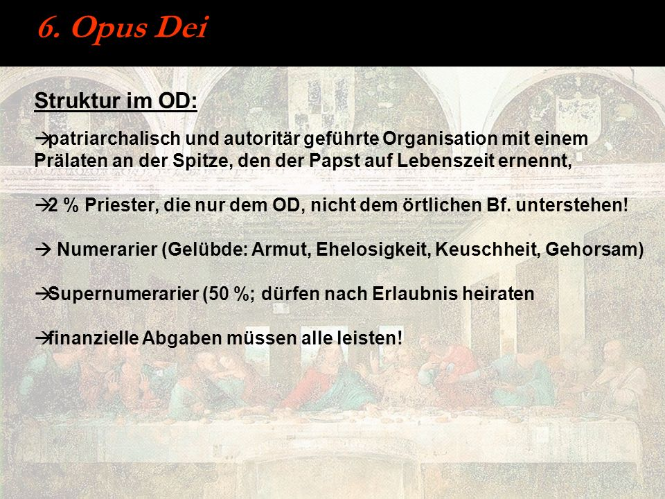 6. Opus Dei Struktur im OD: