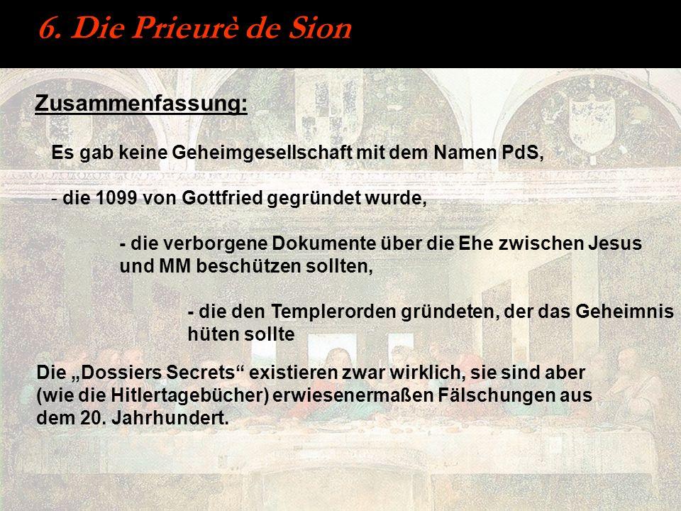 6. Die Prieurè de Sion Zusammenfassung:
