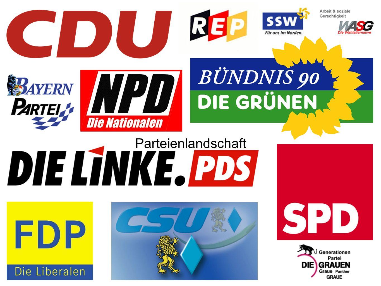 Hier die wichtigsten Parteien in Deutschland und eine Auswahl kleiner Parteien, die nicht im Bundestag sind