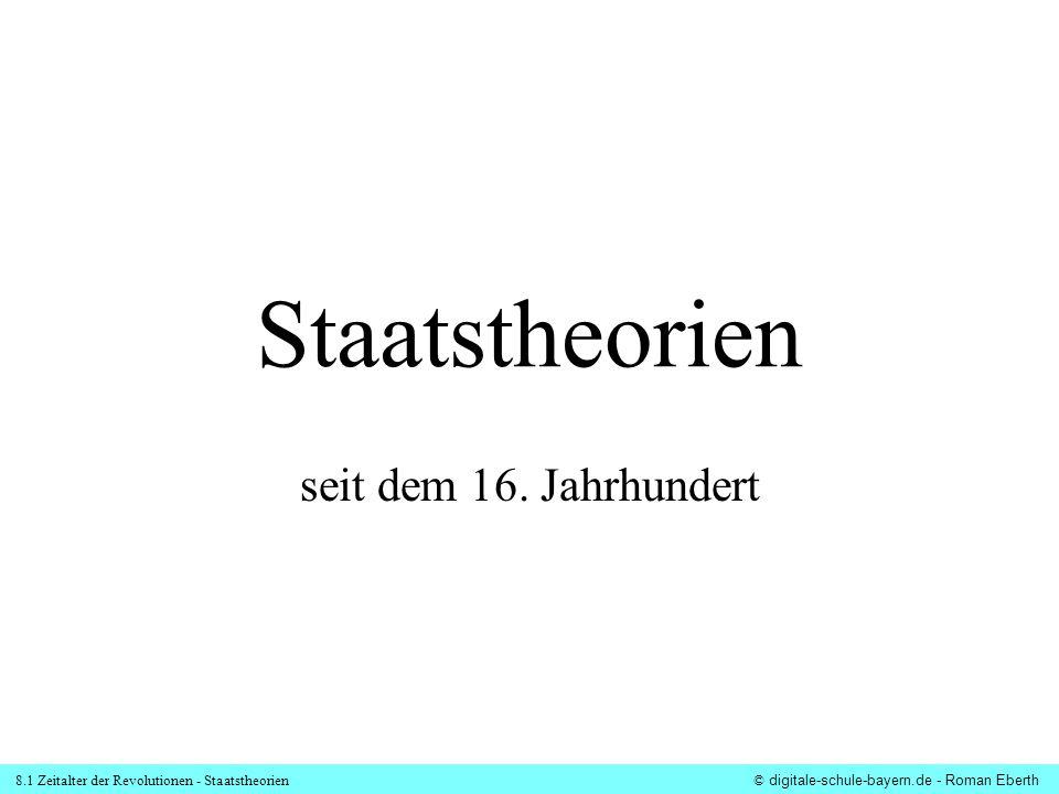 Staatstheorien seit dem 16. Jahrhundert