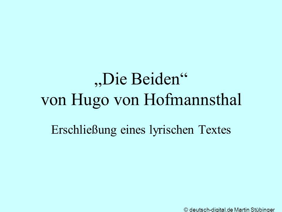 """""""Die Beiden von Hugo von Hofmannsthal"""