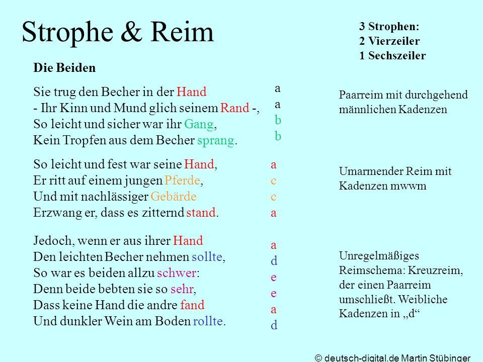 Strophe & Reim Die Beiden