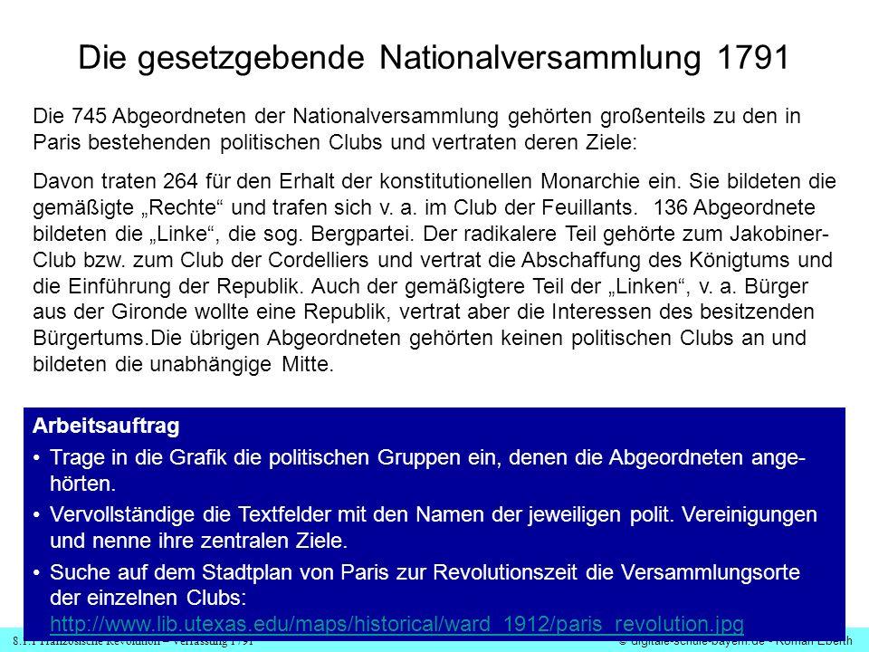 Die gesetzgebende Nationalversammlung 1791
