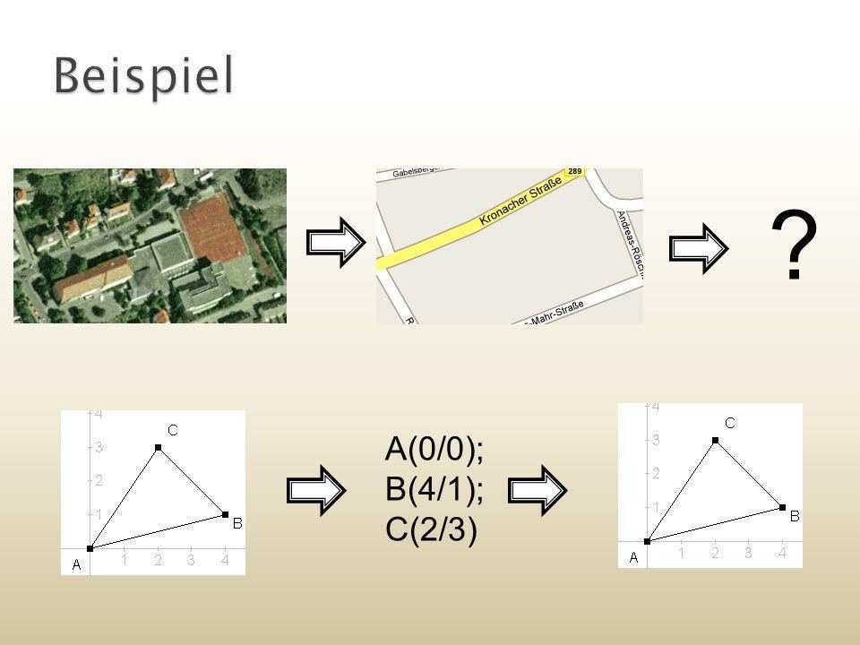 Beispiel A(0/0); B(4/1); C(2/3)