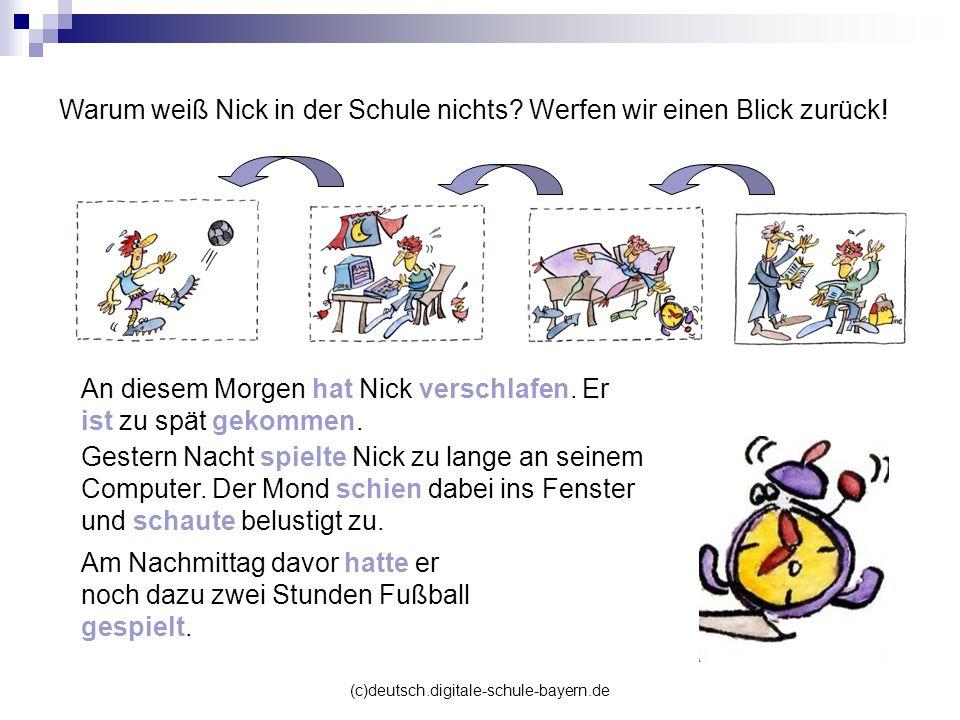 Warum weiß Nick in der Schule nichts Werfen wir einen Blick zurück!