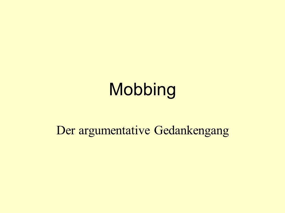 Der argumentative Gedankengang