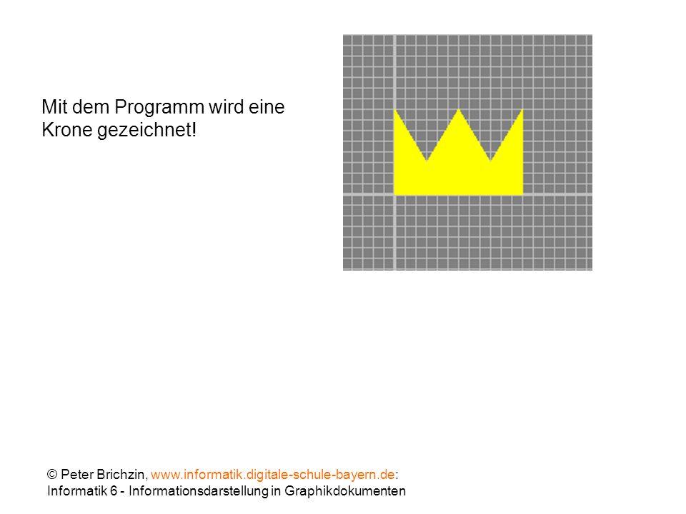 Mit dem Programm wird eine Krone gezeichnet!